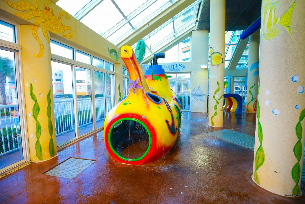 Indoor Splash Area with Submarine play area
