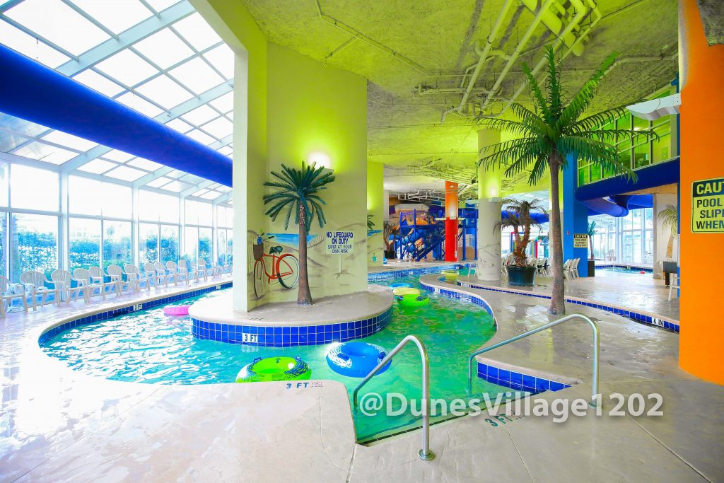 Indoor Lazy River with heated pool